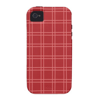 Rote Gitterlinien iPhone 4/4S Hülle