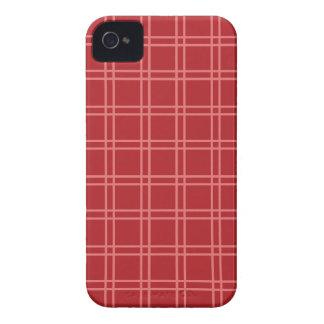 Rote Gitterlinien iPhone 4 Case-Mate Hüllen