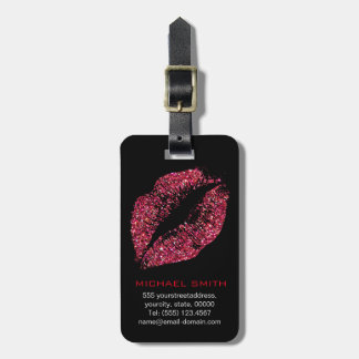 Rote Glitter-Lippen #2 Gepäckanhänger