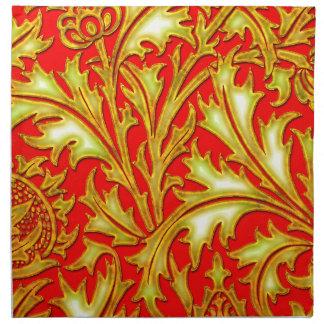Rote Golddistel Stoffserviette