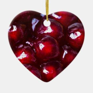 Rote Granatapfel-Samen Keramik Ornament