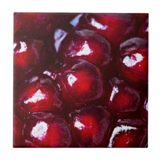 Rote Granatapfel-Samen Keramikfliese