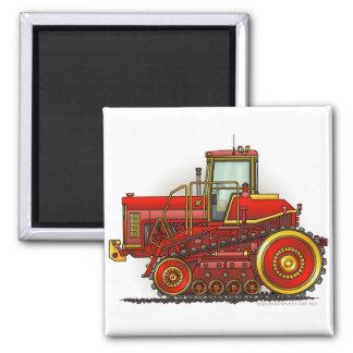 Rote große Bulldozer-Traktor-Magneten Quadratischer Magnet