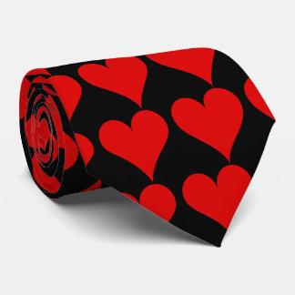 Rote Herz-Krawatte Bedruckte Krawatten