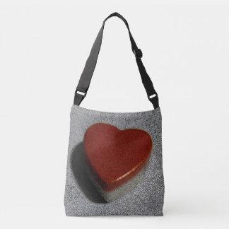 Rote Herz-Tasche Tragetaschen Mit Langen Trägern