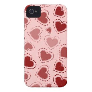 Rote Herzen iPhone 4 Cover