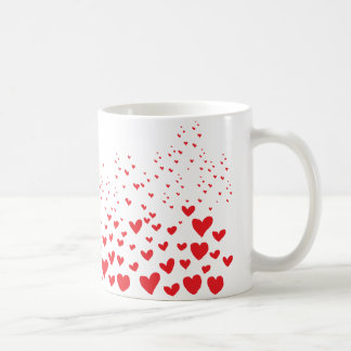 Rote Herzen Kaffeetasse