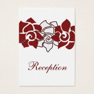 rote Hochzeit Empfangs-mit Blumenkarten Visitenkarte