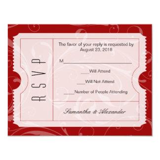 Rote Hochzeits-Karte UAWG Karte 10,8 X 14 Cm Einladungskarte