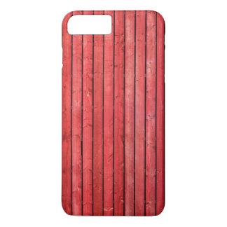 Rote hölzerne Planken iPhone 7 Plusfall iPhone 7 Plus Hülle