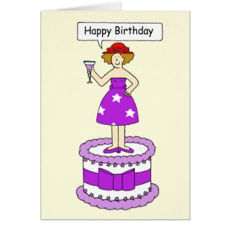 Rote Hutdame, alles Gute zum Geburtstag! Karte