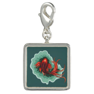 Rote Koi Fische Charms