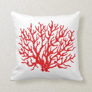 Rote Korallen-Strand-Wurfs-Kissen-Dekor Kissen