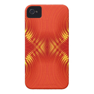 rote Kräuselung 3 iPhone 4 Case-Mate Hülle