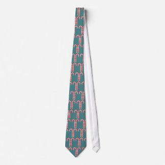 Rote Krawatte Muster der Zuckerstangen