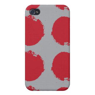 Rote Kreise iPhone 4 Case
