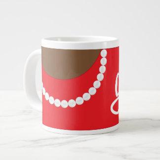 Rote Kupplungs-Perlen und Jumbo-Tassen