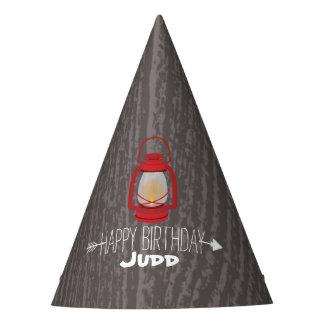 Rote Laterne scherzt Wildnis-Geburtstags-Party-Hut Partyhütchen
