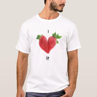 Rote Liebe-Herz-Erdbeeren T-Shirt