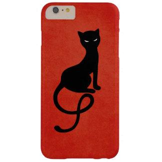 Rote liebenswürdige schlechte schwarze Katze Barely There iPhone 6 Plus Hülle