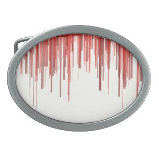 Rote Linie Oval-Schnalle Ovale Gürtelschnallen