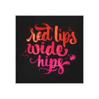 rote Lippen und breite Hüften-Leinwand-Wasserfarbe Leinwand Drucke