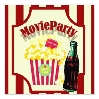 Rote Mädchen-Film-Geburtstags-Party Einladung