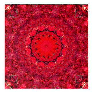 Rote Mandala-Kunst Acryldruck