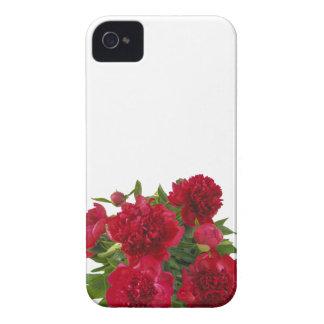 Rote mit Blumenpfingstrosen iPhone 4 Case-Mate Hülle