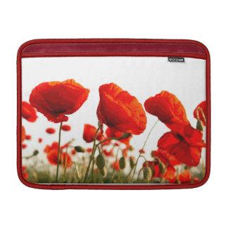 Rote Mohnblumen MacBook Sleeve