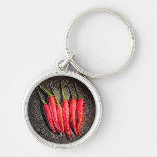 Rote Paprika-Paprikaschoten-Schlüsselkette Schlüsselanhänger