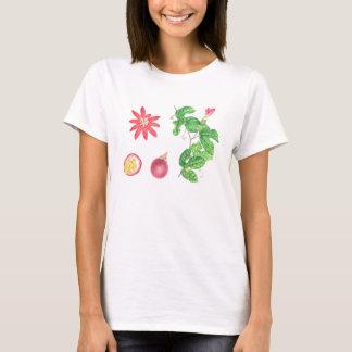 Rote Passionsfrucht botanisch T-Shirt