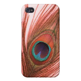 Rote Pfau-Feder iPhone 4 Hülle
