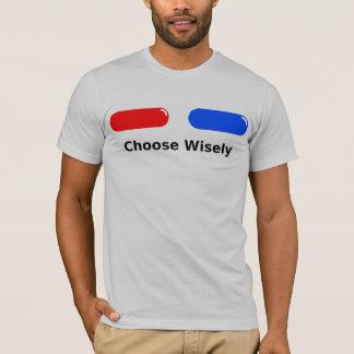 Rote Pillen-Blau-Pille T-Shirt