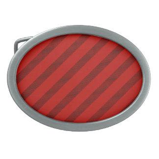 Rote Punkt-Streifen-Oval-Schnalle Ovale Gürtelschnallen