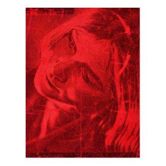 Rote Reflexions-Postkarte II - kundengerecht