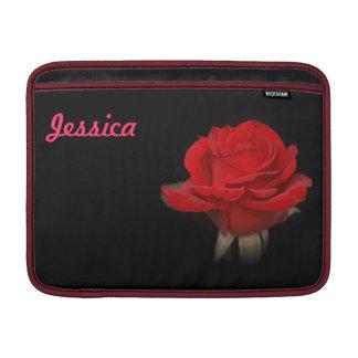 Rote Rose für meine Liebe MacBook Sleeve