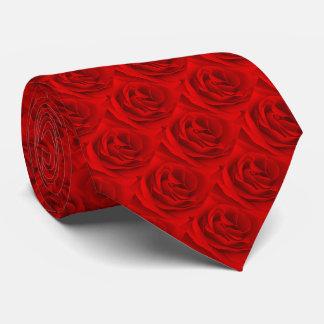Rote Rose, Rote Rose, Rosen-Front und Rückseite Personalisierte Krawatten