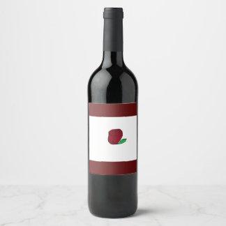 Rote Rose Weinetikett
