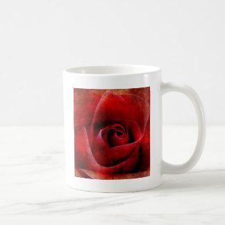 Rote Rosen Makro Tasse