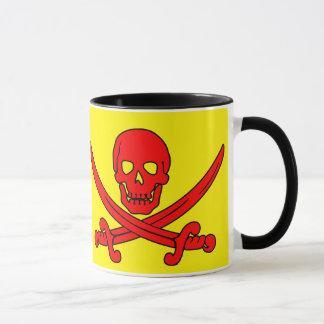 Rote Schädel-u. Schwerter-Piraten-Tasse Tasse