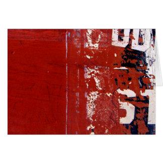 Rote Schmutz-Beschaffenheit mit Graffiti Karte