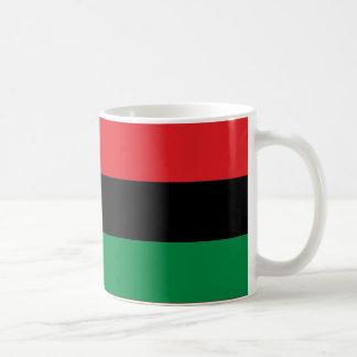 Rote schwarze und grüne Pan-Afrikanische UNIA Tasse