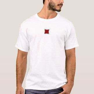 rote schwarze Verzierungen T-Shirt