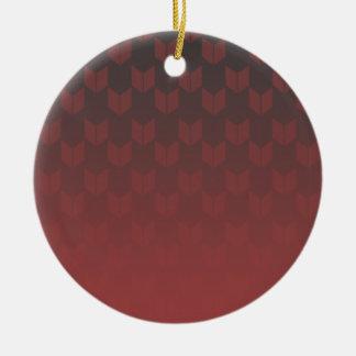 Rote Steigungs-Kreis-Verzierung Keramik Ornament