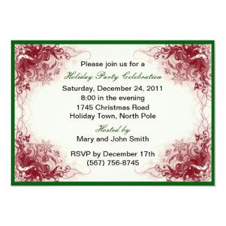 Rote Strudel-Feiertags-Feier-Party Einladungen 12,7 X 17,8 Cm Einladungskarte