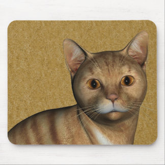 Rote Tabby-Katze Mousepads