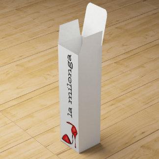 Rote Tango-Schuh-Wein-Geschenkboxen Weinbox
