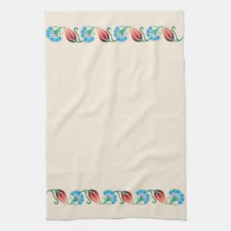 Rote Tulpe-blaues Gartennelken-Tuch Küchentuch