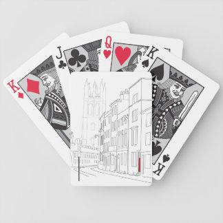 Rote Tür-Spielkarten Poker Karten